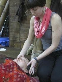 Adjustment in Savasana