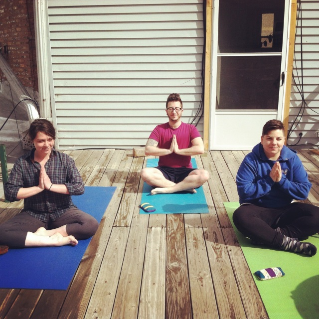 First Deck Yoga of the Season